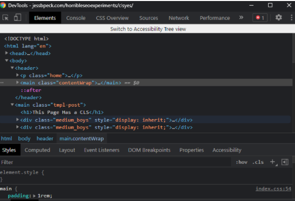a screenshot of devtools in darkmode
